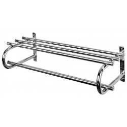 Bevco Precision - 124 - Wall Mount Coat Rack Single 24 In. L Silver Steel Bevco, Ea
