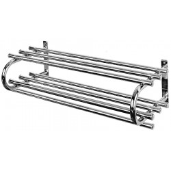 Bevco Precision - 260 - Wall Mount Coat Rack Double 60 Silver Steel Bevco, Ea