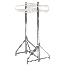Bevco Precision - SFSD - Small Floor Stand Double 6 Ft H Silver Steel Bevco, Ea