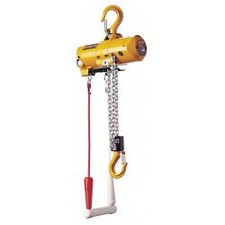 Harrington Hoists - AH500C-20 - Air Chain Hoist, 500 lb. Load Capacity, 20 ft. Hoist Lift, Hook Mounted - No Trolley