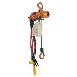Harrington Hoists - AH500P-10 - Air Chain Hoist, 500 lb. Load Capacity, 10 ft. Hoist Lift, Hook Mounted - No Trolley