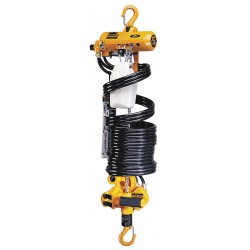 Harrington Hoists - AH500M-6.5 - Air Chain Hoist, 500 lb. Load Capacity, 6-1/2 ft. Hoist Lift, Hook Mounted - No Trolley
