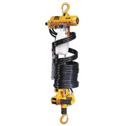 Harrington Hoists - AH500M-13 - Air Chain Hoist, 500 lb. Load Capacity, 13 ft. Hoist Lift, Hook Mounted - No Trolley