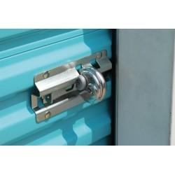 SGM Enterprises - RGDS-00 - Aluminum Disc/Hidden Shackle Lock Padlock Guard, 3/4H x 7/8W x 3/4L, Black