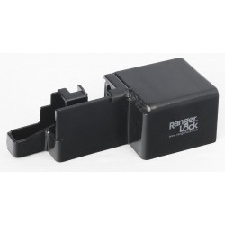 SGM Enterprises - RGRU-00 - Hardened Steel Roll-Up Lock Padlock Guard, 5H x 3-1/2W x 10L, Black