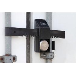 SGM Enterprises - RDPO-00 - Hardened Steel Disc/Hidden Shackle Lock Padlock Guard, 9H x 4W x 15L, Black