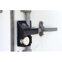 SGM Enterprises - RDSC-00 - Hardened Steel Disc/Hidden Shackle Lock Padlock Guard, 9H x 3-1/2W x 9L, Black