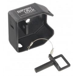 SGM Enterprises - RDSR-00 - Hardened Steel Disc/Hidden Shackle Lock Padlock Guard, 4H x 4W x 2L, Black