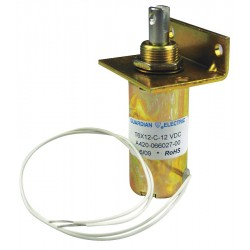 Guardian Electric - T12X19-I-12D - Solenoid, 12VDC Coil Volts, Stroke Range: 1/8 to 1, Duty Cycle: Intermittent