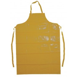 Ansell-Edmont - 56-801 - Bib Apron, Yellow, 45 Length, 35 Width, Enduro 2000 Material, EA, 1
