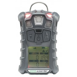 MSA - 10107602 - MSA Charcoal ALTAIR 4X Portable Combustible Gas, Carbon Monoxide, Hydrogen Sulphide And Oxygen Monitor With Rechargeable Battery And Motion Alert