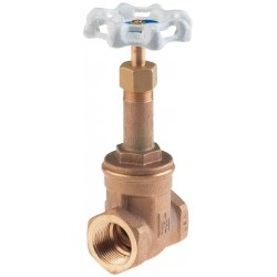Milwaukee Valve - UP148 1/4 - FNPT Gate Valve, Inlet to Outlet Length: 1-3/4, Pipe Size: 1/4, Max. Fluid Temp.: 180F