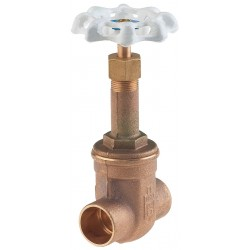 Milwaukee Valve - UP149 3/4 - Class 300 Solder Gate Valve, Inlet to Outlet Length: 2-1/2, Pipe Size: 3/4, Max. Fluid Temp.: 180