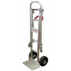 B & P Manufacturing - A13-B81-C6-D5 - Convertible Hand Truck, Continuous Loop, 600 lb., Overall Height 61-1/2
