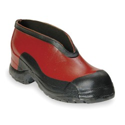 Honeywell - 51508 11 - Salisbury by Honeywell Size 11 Red Rubber No Buckle Overshoes With Anti-Skid Bar Tread Outsole, ( Pair )