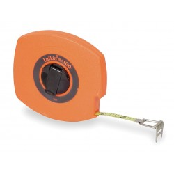 Lufkin - 100L - 100 ft. Steel SAE Long Tape Measure, High Visibility Orange