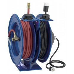 Coxreels / Coxwells - C-L350-5016-D - Combination Air/Water, Electric Reel, 13 Amps, 16 Wire Gauge (AWG), 300 psi, 3/8, Hose Length: 50 f