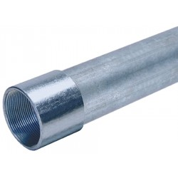 Allied - 583500 - IMC Galvanized Steel Conduit, Trade Size: 4, Nominal Length: 10 ft.