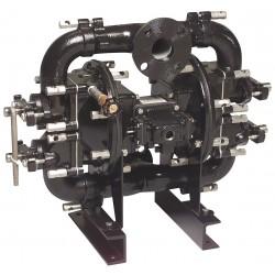 Sandpiper / Warren Rupp - W09-3 DS1II - Cast-Iron Santoprene Single Double Diaphragm Pump, 140 gpm, 125 psi