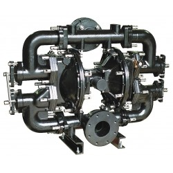Sandpiper / Warren Rupp - W15-4 DS1II - Cast-Iron Santoprene Single Double Diaphragm Pump, 260 gpm, 125 psi