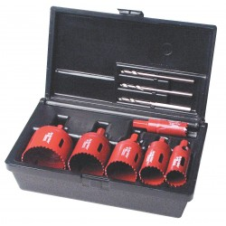 M.K. Morse - TA02E - Real Mccoy Hole Saw Electricians Kit 9pc Plus Bo