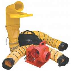 Allegro - 9520-04M - Centrifugal Confined Space Blower Kit, 1/3 HP, 115VAC Voltage, 1725 rpm Blower/Fan Speed