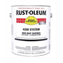 Rust-Oleum - 4215303 - 300 to 800F Heat Resistant Coating for Primed Steel, Aluminum, 2 gal.