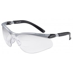 3M - 11458-00000-20 - Glasses, BX Dual-Reader, Anti Fog, Magnified, Transparent, Black, Silver, 11458 Series