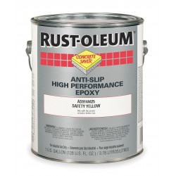 Rust-Oleum - AS9144425 - Matte Polyamine Converted Epoxy Anti-Slip Floor Coating, Safety Yellow, 1 gal.