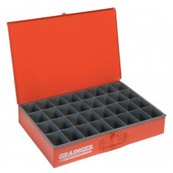 Durham - 107-17-S1158 - Compartment Box, 12 Drawer Depth, 18 Drawer Width, Compartments per Drawer 32