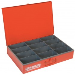 Durham - 115-17-S1158 - Compartment Box, 12 Drawer Depth, 18 Drawer Width, Compartments per Drawer 12