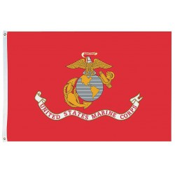 Annin - 439007 - US Marine Corps Armed Forces Flag, 4 ft.H x 6 ft.W, Indoor and Outdoor