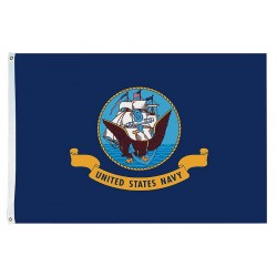 Annin - 439031 - US Navy Armed Forces Flag, 4 ft.H x 6 ft.W, Indoor and Outdoor