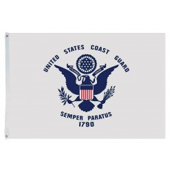 Annin - 439127 - US Coast Guard Armed Forces Flag, 4 ft.H x 6 ft.W, Indoor and Outdoor