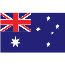 Annin - 190396 - Australia Country Flag, 3 ft.H x 5 ft.W, Indoor and Outdoor