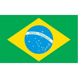 Annin - 190845 - Brazil Country Flag, 4 ft.H x 6 ft.W, Indoor and Outdoor