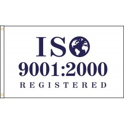 Annin - ISO-9001 - ISO-9001 ISO Registered Flag, 3 ft.H x 5 ft.W, Indoor and Outdoor