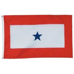 Annin - 440402 - Service Star Service Star Flag, 3 ft.H x 5 ft.W, Indoor and Outdoor