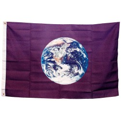 Annin - 1347 - Earth Earth Flag, 3 ft.H x 5 ft.W, Indoor