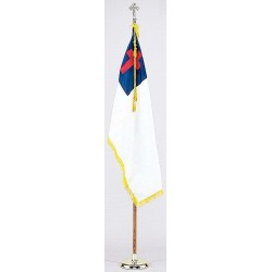 Annin - 101200 - Religious Flag Set, 4 ft. Height, 6 ft. Width, Includes Base and 8 ft. Pole