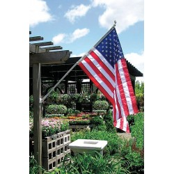 "Annin - 238 - US Flag Set, 3 ft. Height, 5 ft. Width, Includes 6 ft. Aluminum Spinning Pole, 1"" Dia."
