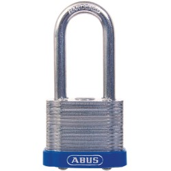 ABUS - 41HB/50 KD - Different-Keyed Padlock, Open Shackle Type, 2 Shackle Height, Silver