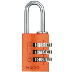 ABUS - 145/20 ORANGE - Combination Padlock, Resettable Side-Dial Location, 7/8 Shackle Height