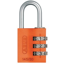 ABUS - 145/30 ORANGE - Combination Padlock, Resettable Side-Dial Location, 1 Shackle Height