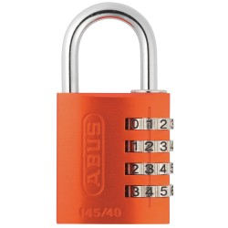 ABUS - 145/40 ORANGE - Combination Padlock, Resettable Side-Dial Location, 1 Shackle Height