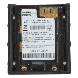Industrial Scientific - 17134453-01 - 3.7VDC Li-Ion Replacement Battery Pack, Black, 1 EA