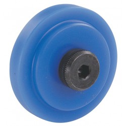 80/20 - 25-2281 - 37.50mm Roller Dia. Flat Stud Roller Wheel;Hex Socket Face Design