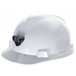 MSA - 460018 - Front Brim Hard Hat with Lamp Bracket and Cord Holder, 4 pt. Pinlock Suspension, White, Hat Size: 6-