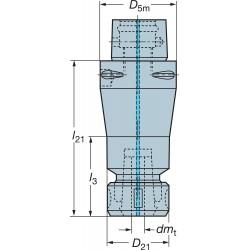 Sandvik Coromant - C5-391.14-16 100 - Coromant Capto ER 16 Collet Chuck Adapter, Capacity: 0.039 / 0.394, ANSI # C5-391.14-16 100