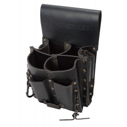 Greenlee / Textron - 0258-11 - Black Tool Pouch, Top-Grain Leather, Fits Belts Up To (In.): 3